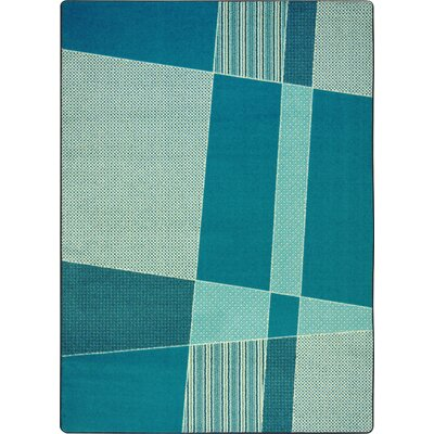 Hand-Tufled Blue Area Rug Rug Size: 109 x 132