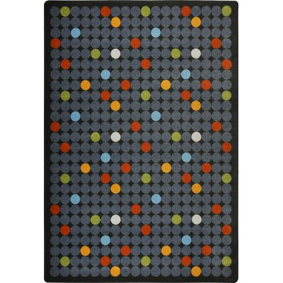 Hand-Tufled Gray Area Rug Rug Size: 54 x 78
