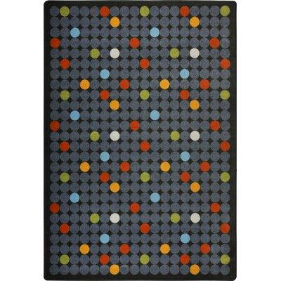 Hand-Tufled Gray Area Rug Rug Size: 54 x 78