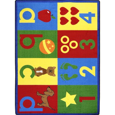 Hand-Tufled Red/Yellow Kids Rug Rug Size: 54 x 78