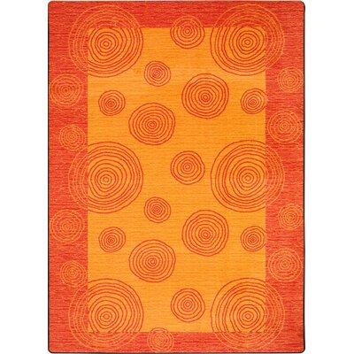 Hand-Tufted Orange Area Rug Rug Size: 310 x 54