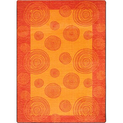 Hand-Tufted Orange Area Rug Rug Size: 78 x 109