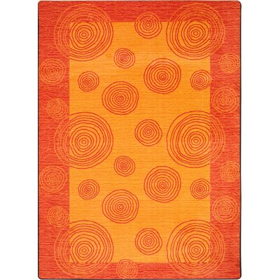 Hand-Tufted Orange Area Rug Rug Size: 109 x 132
