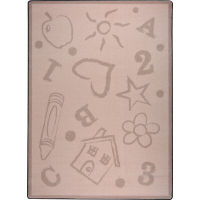 Hand-Tufled Brown Kids Rug Rug Size: 54 x 78