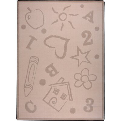 Hand-Tufled Brown Kids Rug Rug Size: 109 x 132
