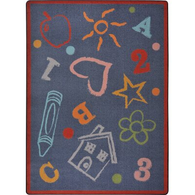 Hand-Tufled Gray Kids Rug Rug Size: 109 x 132