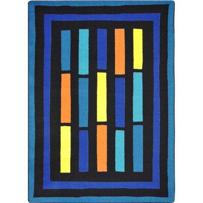 Hand-Tufled Blue Area Rug Rug Size: 109 x 132