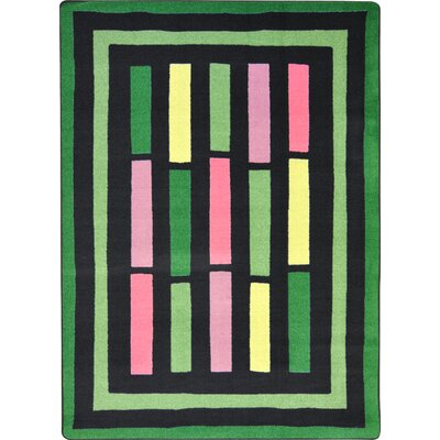 Hand-Tufled Green Area Rug Rug Size: Rectangle 78 x 109