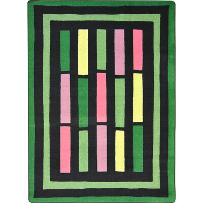 Hand-Tufled Green Area Rug Rug Size: Rectangle 54 x 78
