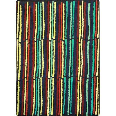 Hand-Tufled Green/Yellow Area Rug Rug Size: 109 x 132
