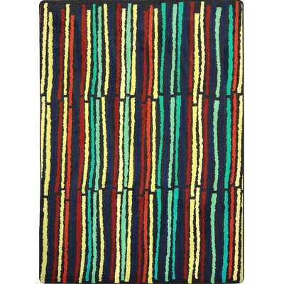Hand-Tufled Green/Yellow Area Rug Rug Size: 54 x 78