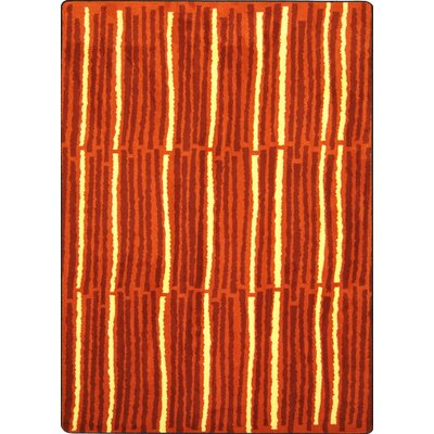 Hand-Tufled Red Area Rug Rug Size: 109 x 132