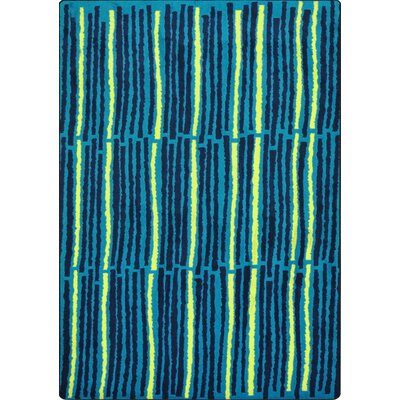 Hand-Tufled Blue Area Rug Rug Size: 54 x 78