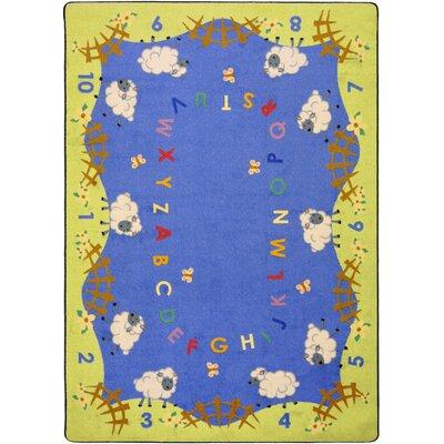 Hand-Tufled Blue/Green Kids Rug Rug Size: 109 x 132