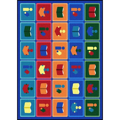 Hand-Tufled Blue/Brown Kids Rug Rug Size: Rectangle 54 x 78