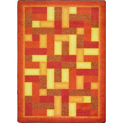 Hand-Tufled Brown Area Rug Rug Size: 78 x 109