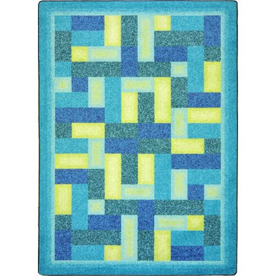 Hand-Tufled Blue Area Rug Rug Size: 7'8