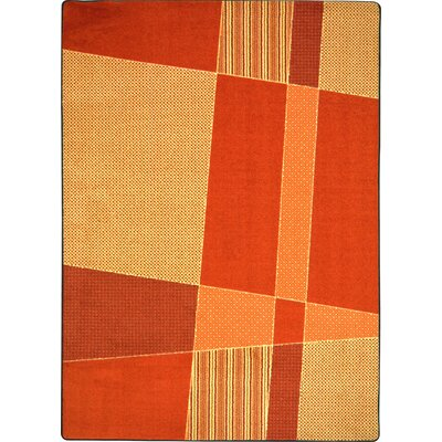 Hand-Tufled Brown Area Rug Rug Size: 54 x 78