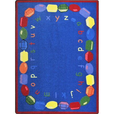 Hand-Tufled Blue Area Rug Rug Size: 78 x 109