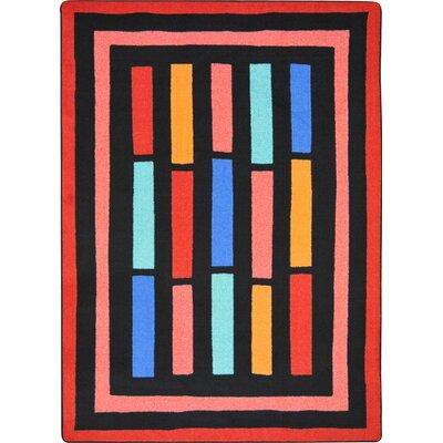 Hand-Tufled Black/Pink Area Rug Rug Size: 310 x 54