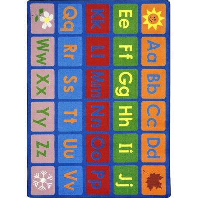 Hand-Tufled Blue Kids Rug Rug Size: 54 x 78