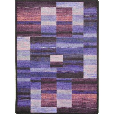 Hand-Tufled Brown/Purple Area Rug Rug Size: 109 x 132