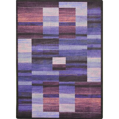 Hand-Tufled Brown/Purple Area Rug Rug Size: 54 x 78