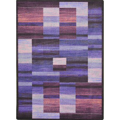 Hand-Tufled Brown/Purple Area Rug Rug Size: 78 x 109