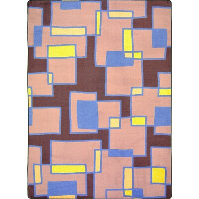 Hand-Tufled Brown/Pink Area Rug Rug Size: 78 x 109