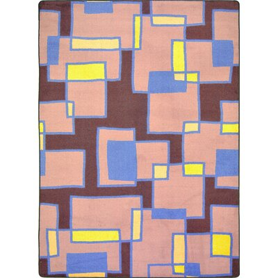 Hand-Tufled Brown/Pink Area Rug Rug Size: 109 x 132