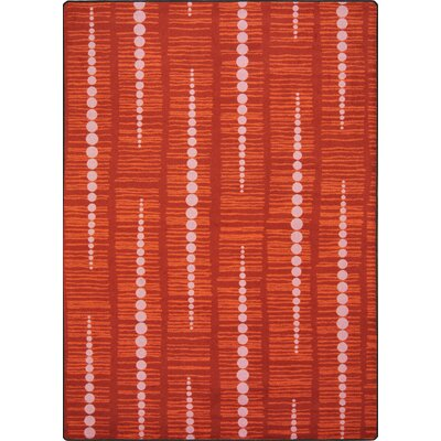 Red Area Rug Rug Size: 78 x 109