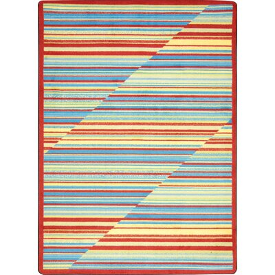 Red/Blue Area Rug Rug Size: 54 x 78