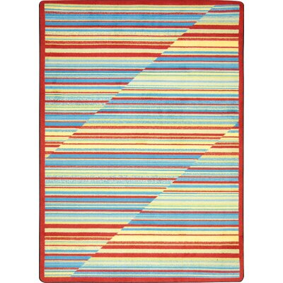 Red/Blue Area Rug Rug Size: 310 x 54