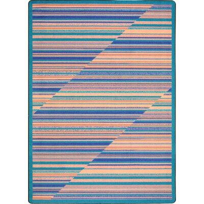 Blue/Beige Area Rug Rug Size: 78 x 109