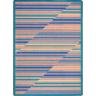 Blue/Beige Area Rug Rug Size: 10'9