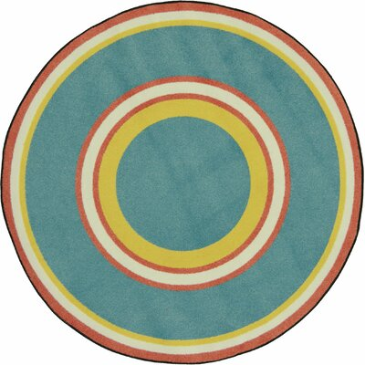 Blue/Green Area Rug Rug Size: Round 54