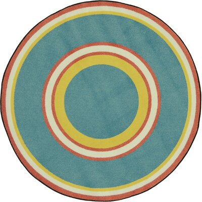 Blue/Green Area Rug Rug Size: Round 77