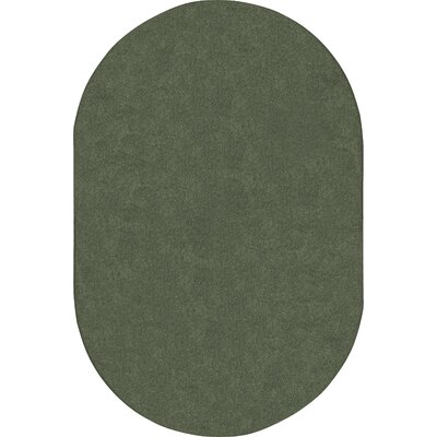 Endurance Green Area Rug Rug Size: Oval 12 x 8