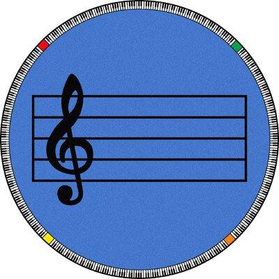 Blue Area Rug Rug Size: Round 132