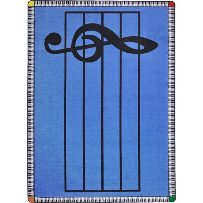 Blue Area Rug Rug Size: Rectangle 54 x 78