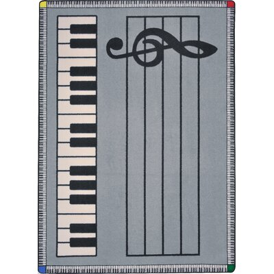 Gray Area Rug Rug Size: Rectangle 78 x 109
