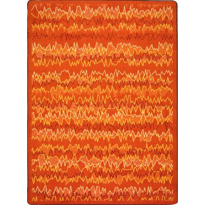 Orange Area Rug Rug Size: 109 x 132