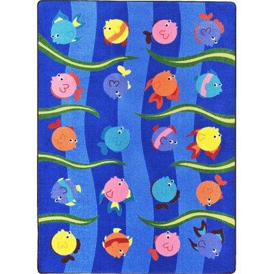 Blue Area Rug Rug Size: 78 x 109