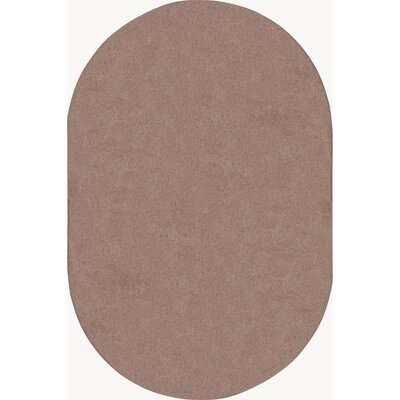 Taupe Area Rug Rug Size: Oval 6 x 9