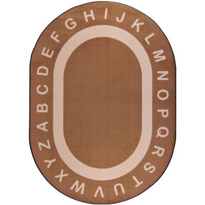 Mocha Area Rug Rug Size: Oval 78 x 109