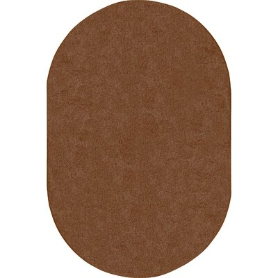 Brown Area Rug Rug Size: Oval 6 x 9