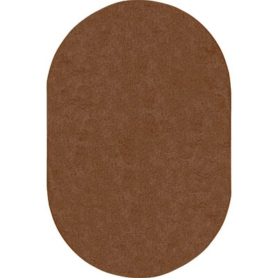 Brown Area Rug Rug Size: Oval 12 x 8