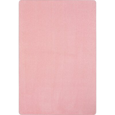 Pale Pink Area Rug Rug Size: Rectangle 4 x 6