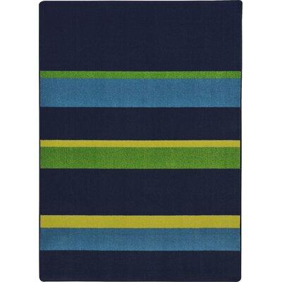 Navy Area Rug Rug Size: 109 x 132