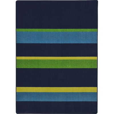 Navy Area Rug Rug Size: 78 x 109